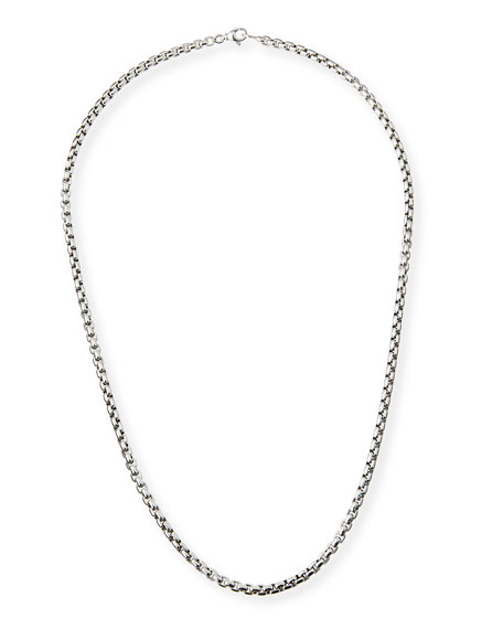 Men's 4.8mm Large Box Chain Necklace, 26""
