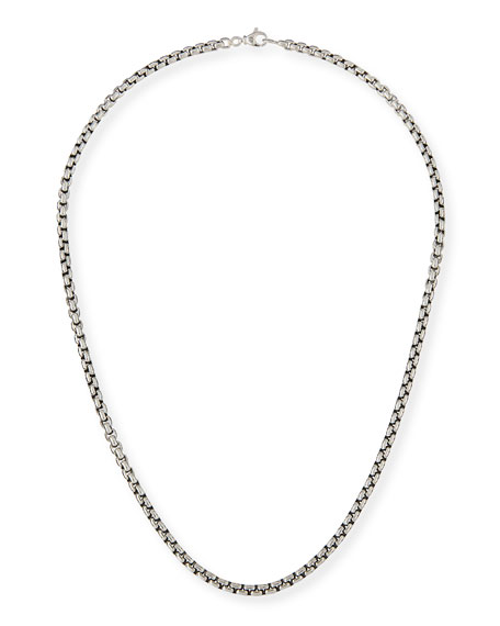 Men's 4.8mm Large Box Chain Necklace, 24""