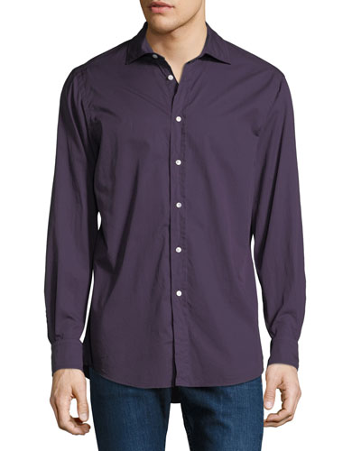 Men's Garment-Dyed Twill Dress Shirt