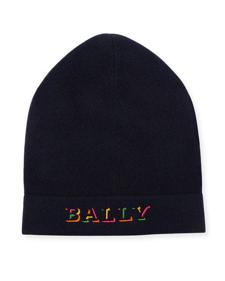Bally Men's Rib-Knit Wool Beanie Hat