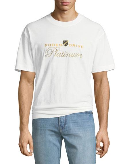 Alexander Wang Men's Rodeo Drive Platinum Embroidered T-Shirt