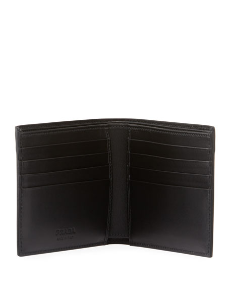 Men's Smooth Leather Bi-Fold Wallet