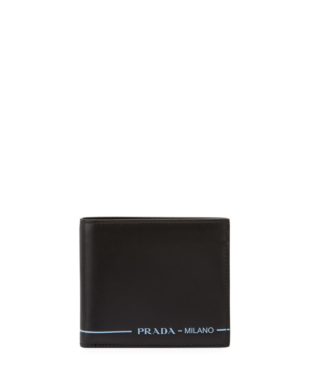 040575bae524 Prada Men's Smooth Leather Bi-Fold Wallet | Neiman Marcus