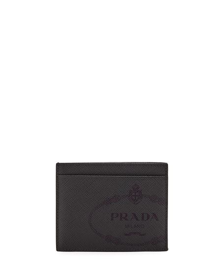 Prada Men's Saffiano Leather Card Case with Savoia