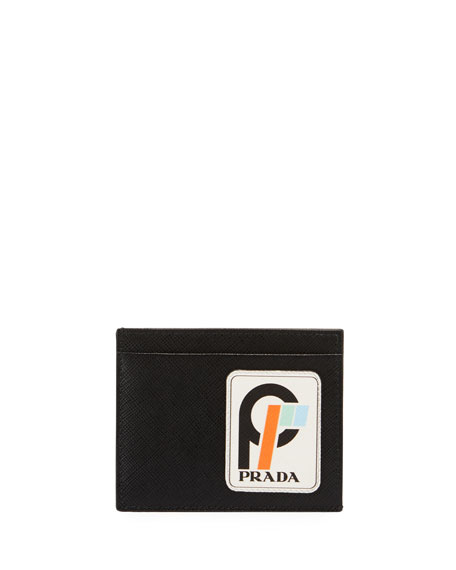 Prada Men's Saffiano Leather Card Case with Runway
