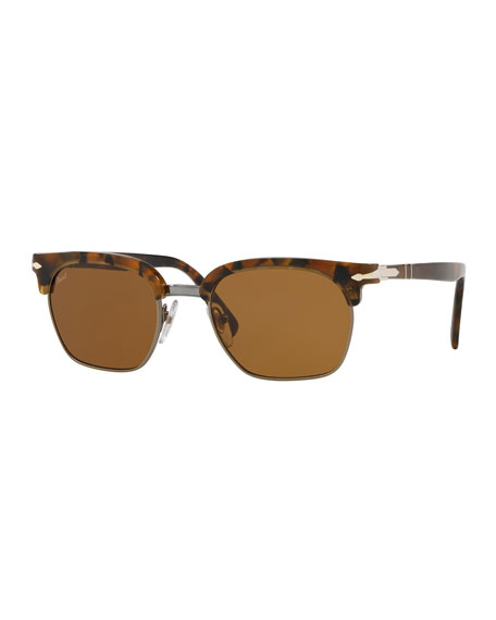 Persol PO3199S Rectangular Sunglasses with Gradient Lenses