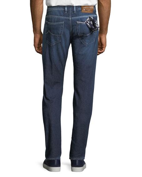 Men's Luxe Denim Straight-Leg Jeans