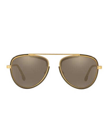 Men's Metal Aviator Sunglasses