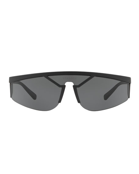 Men's Plastic Shield Wrap Sunglasses