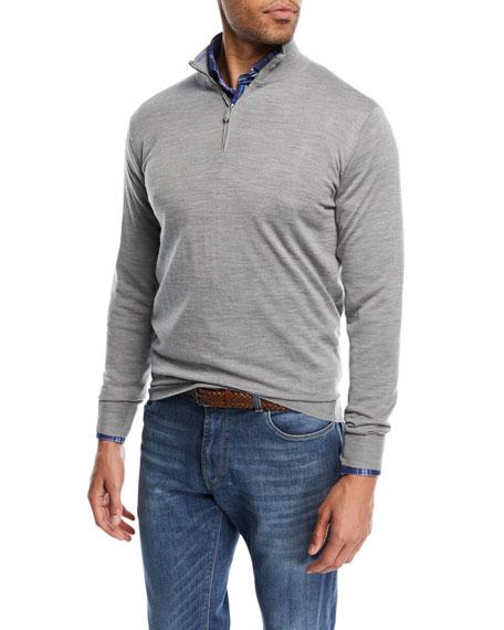 Merino Silk Quarter-Zip Sweater