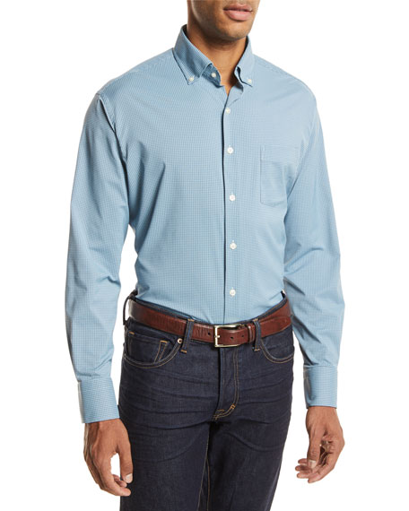 Peter Millar Parsons Performance Check Sport Shirt
