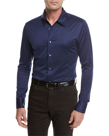Brioni Cotton Jersey Knit Shirt