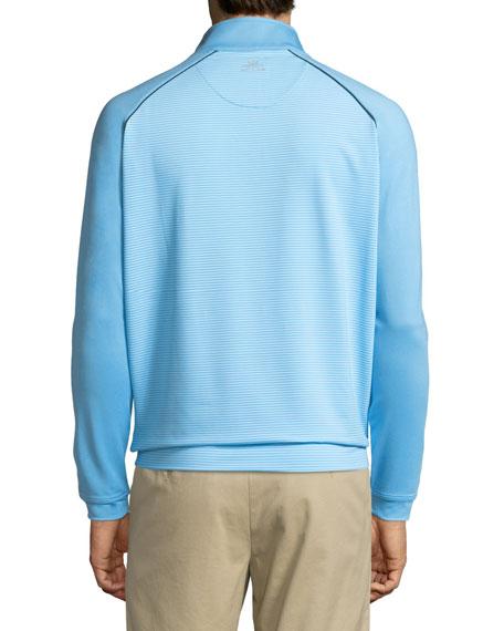 Perth Raglan-Sleeve Striped Pullover