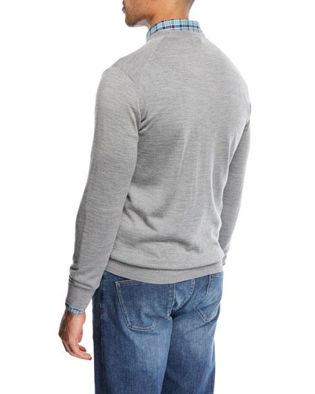 Wool-Blend V-Neck Sweater