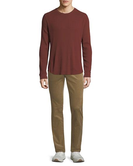 Men's Waffle-Knit Crewneck Shirt