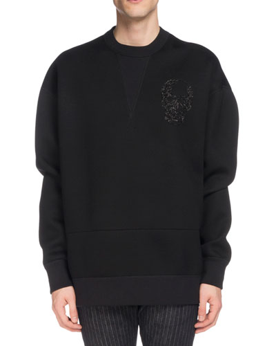 Men's Skull-Embroidered Sweatshirt