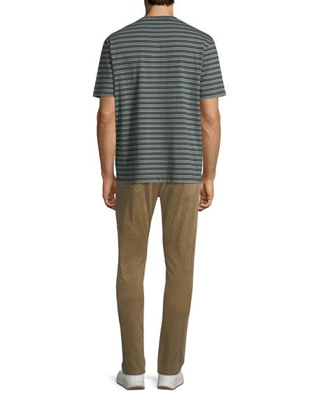 Men's Striped Crewneck Pocket T-Shirt