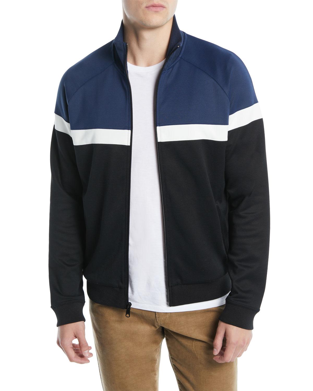 4bafb229470 Vince Men s Colorblock Zip-Front Track Jacket