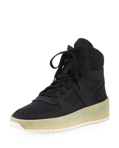Men's Gum-Sole High-Top Basketball Sneakers