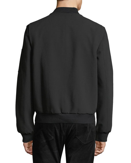 Men's Zip-Front Bomber Jacket