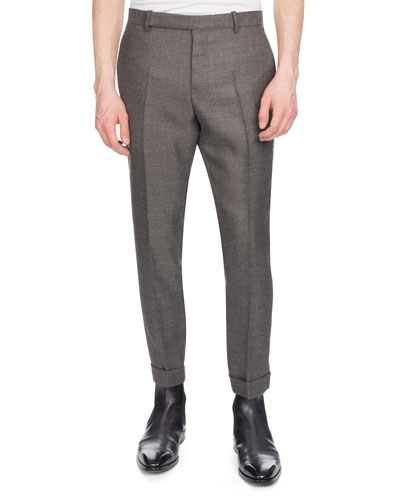 Men's Heathered Wool Twill Pants