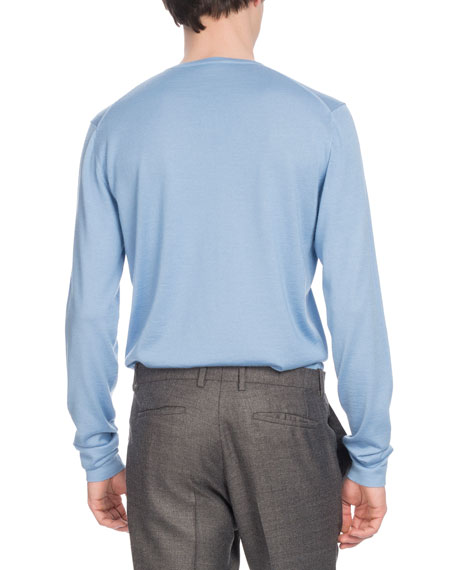 Men's Cashmere/Silk Crewneck Sweater