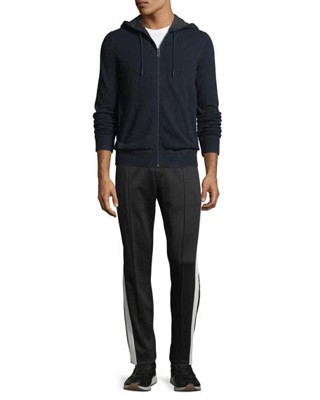 Men's Cashmere Zip-Front Hoodie