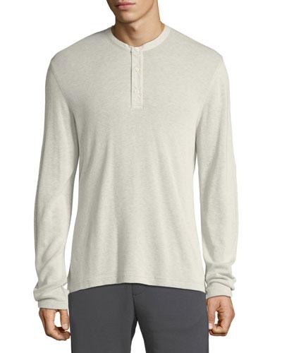Men's Thermal Cotton Henley Shirt