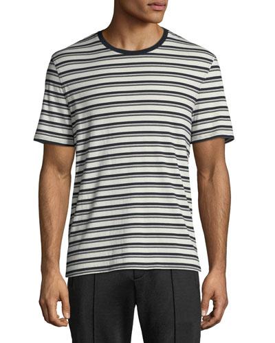 Men's Variegated-Stripe Crewneck T-Shirt