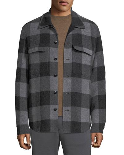 Men's Splittable Plaid Overshirt