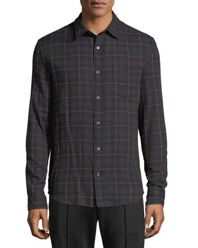 Men's Double-Face Plaid Shirt