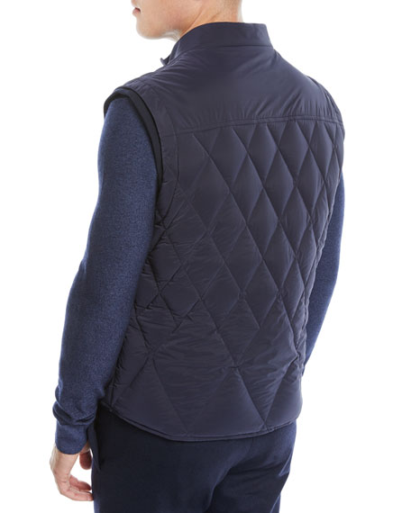 Men's Quilted Zip-Front Vest