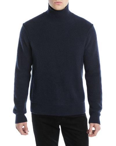 Men's Turtleneck Long-Sleeve Cashmere Pullover Sweater