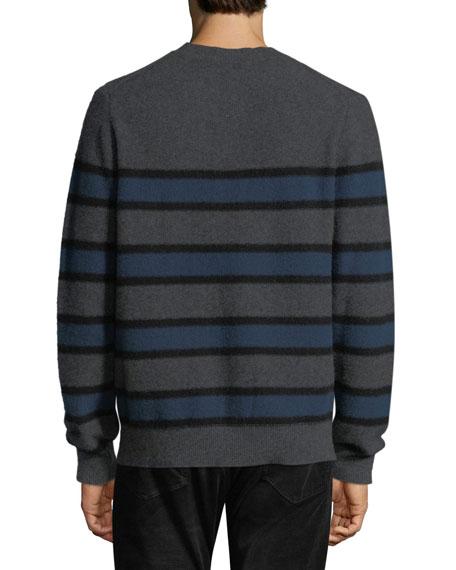 Men's Crewneck Striped Cashmere Sweater