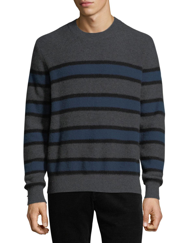 6648ae3d4 Vince Men s Crewneck Striped Cashmere Sweater