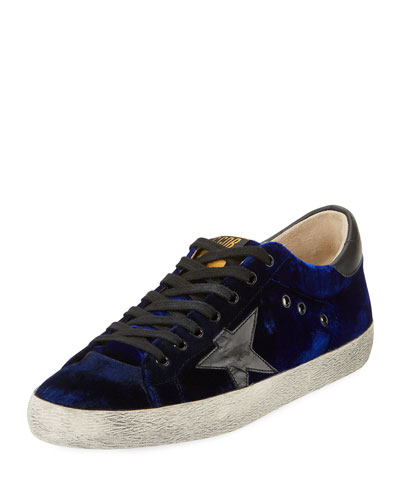 Men's Superstar Velvet Low-Top Sneakers