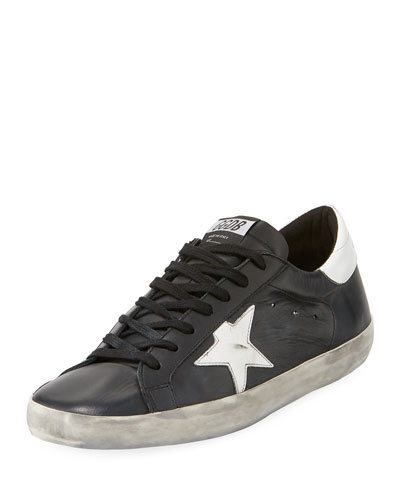 Men's Superstar Bicolor Leather Low-Top Sneakers