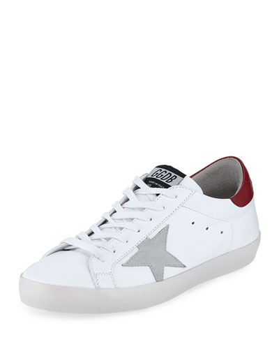 Men's Superstar Leather Low-Top Sneakers with Suede Star