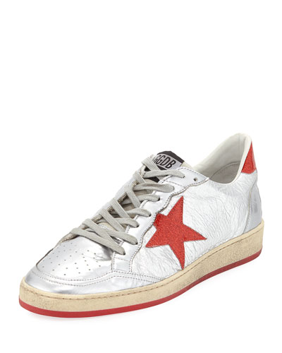 Men's Ball Glitter Star Low-Top Sneakers