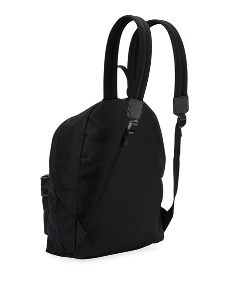 Men's Nylon Backpack w/ Leather Trim