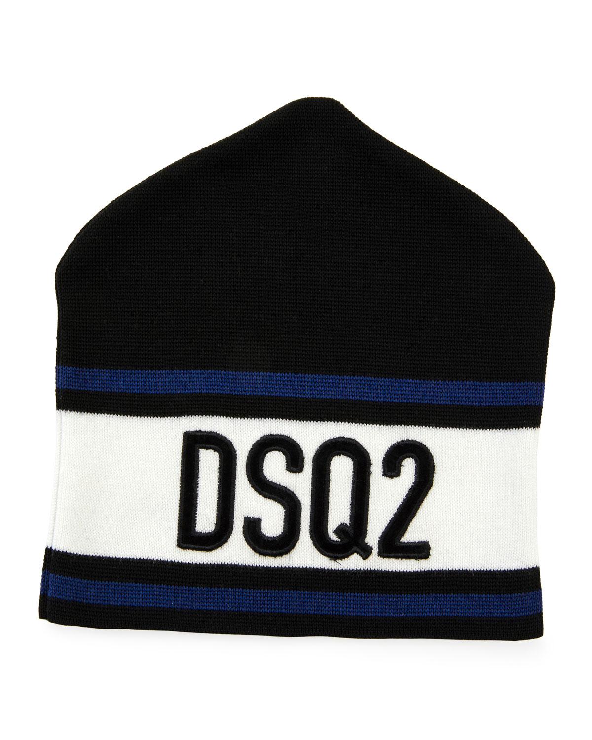 c186822cde6 Dsquared2 Men s Striped Logo Beanie Hat
