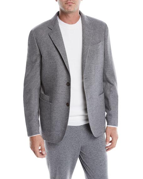 Ermenegildo Zegna Men's Wool-Cashmere Blazer Jacket