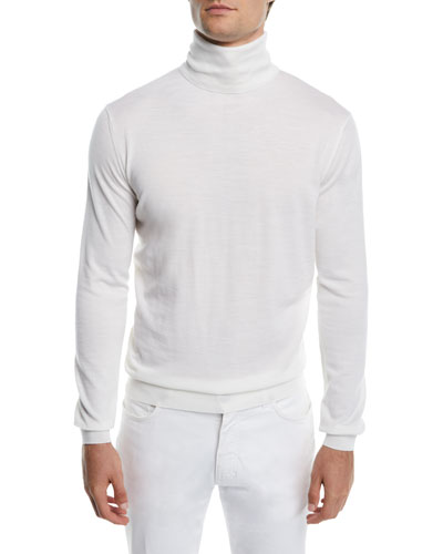 Men's Wool/Cashmere Turtleneck Sweater