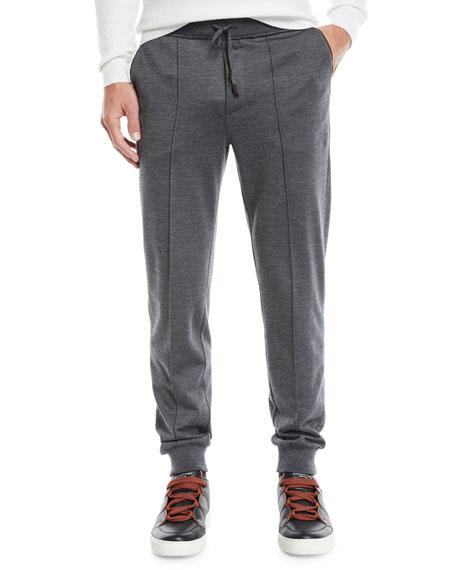 Ermenegildo Zegna Men's Knit Wool Pants