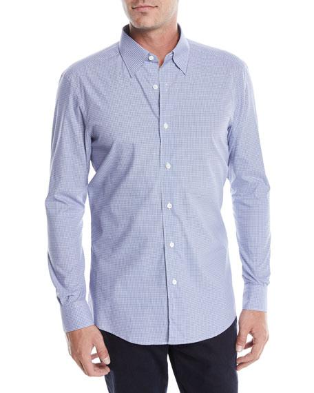 Ermenegildo Zegna Men's Woven Micro-Check Sport Shirt
