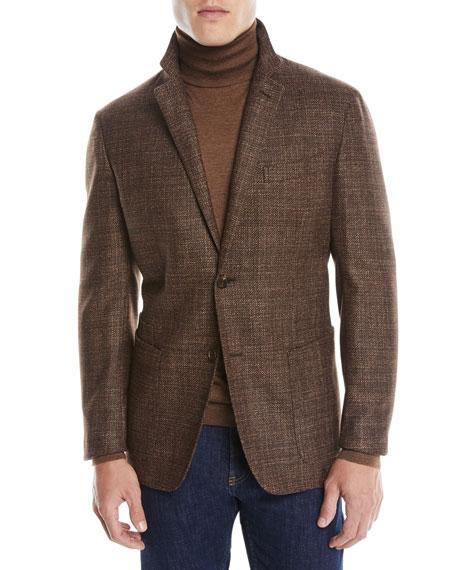 Men's Textured Wool-Silk Blazer