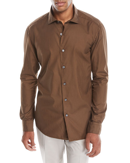 Ermenegildo Zegna Men's Woven Button-Down Shirt