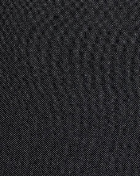 Men's Cashmere-Silk Two-Button Blazer Jacket, Black