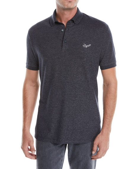 Ermenegildo Zegna Men's Guardaroba Logo Short-Sleeve Polo Shirt