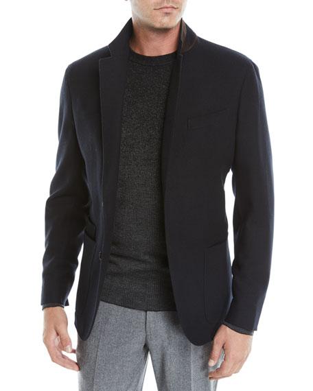 Ermenegildo Zegna Men's Wool-Cashmere Two-Button Blazer Jacket